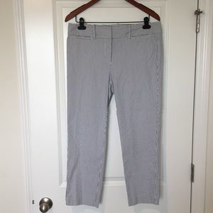 Ann Taylor Factory seersucker pant blue & white